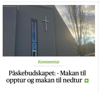 Årets påskeandakt i Avisa